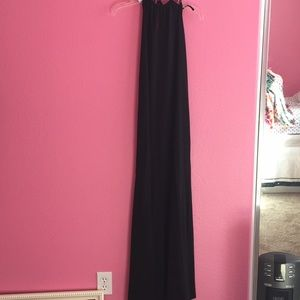 Forever 21 black maxi dress with tie around neck